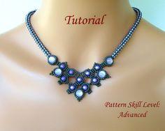 MINOTOR beaded necklace beading tutorial beadweaving pattern