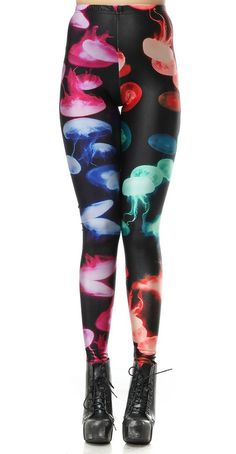 688ead0a8a Colorful Jellyfish Leggings Leggings Are Not Pants