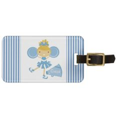 """A cheerleader in a blue and white uniform with blue pom poms and a blue megaphone that reads """"Cheer"""" on cheerleader T-shirts, bodysuits, tote bags, buttons, magnets, pillows, cards, stickers, key chains, and other cheerleader apparel and gifts the little cheerleader will love! #cheer #cheering #cheerleader #cheerleading #girls #sports #teams #team #sports #peacockcards #blue"""