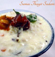Little Millet Curd Rice, Samai Thayir Sadam