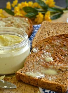 If you love butter but hate the ingredients in store bought dairy free versions then this vegan butter recipe is the answer to your prayers. It's dreamily smooth, rich & creamy & can be whipped up in minutes. It is also palm oil & emulsifier free & can be used in any way you would use real butter!