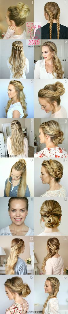 It's officially 2017 so I wanted to do a quick roundup of the most popular posts from 2016! I always love to see which hairstyles end up being the favorites. It helps me plan new tutorials but it also makes all the work and effort…
