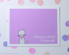 Cat I Love You Card Cute Love Card Romantic by SunnyDoveStudio