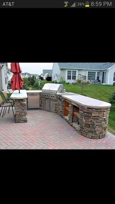 Back yard patio. Great for BBQing! #SummerSecretsContest