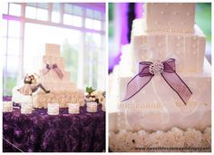 Purple, green, white and silver wedding at Carmel Mountain Ranch Country Club in San Diego, California.  #wedding cake #anchor theme #purple #caketopper #carnations