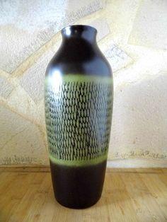 Vase Keramik, große seltene Keramikvase 70er Jahre
