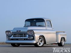 Chevy trucks aficionados are not just after the newer trucks built by Chevrolet. They are also into oldies but goodies trucks that have been magnificently preserved for long years. Hot Rod Trucks, Gm Trucks, Cool Trucks, Dually Trucks, Lifted Trucks, Chevy Classic, Classic Cars, Classic Corvette, 1958 Chevy Truck