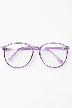 3cfef1f225  Tia  Thin Frame Pastel Clear Glasses - Lilac  1020-3 Fake Glasses