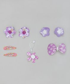 Take a look at this Purple Five-Piece Floral Set by Inca Hair on #zulily today!