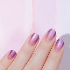 Make an ombre manicure really shine with shimmery polish (it makes it that much easier to hide any mess-ups).