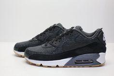 new style e5a39 2ad73 WMNS Nike Air Max 90 PRM 443817-006 Black White Safari Print NSW Running