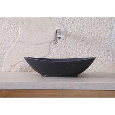 Virtu+USA+Bia+Vessel+Sink+-+Dark+Grey+Granite