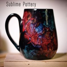 Hold the cosmos in your hands with this Stellar Mug by Amanda Joy Wells of Sublime Pottery Ceramic Pottery, Wells, Cosmos, Glaze, Amanda, My Arts, Porn, Enamels, Outer Space