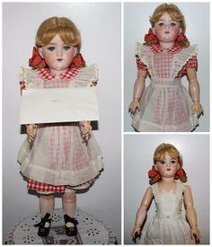 "1914 German ARMAND MARSEILLE 22"" Doll HEIDI 390 A6M Papers Original Wig & Outfit #ArmandMarseille"