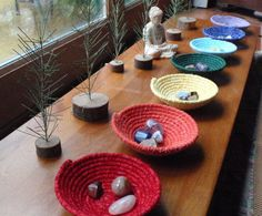 Chakra Bowls  Set of 7 by YellowViolet on Etsy