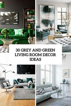 Grey and Green Living Room Idea. 20 Grey and Green Living Room Idea. 20 Stunning Grey and Green Living Room Ideas Living Room Accents, Living Room Green, Living Room On A Budget, Bedroom Green, Cozy Living Rooms, Living Room Colors, New Living Room, Living Room Designs, Living Room Decor