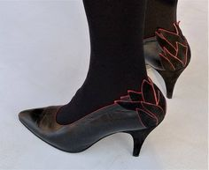 a94e8016be412 Vintage MAUD FRIZON PARIS Made in Italy Applique Ankle Heels - Size 36