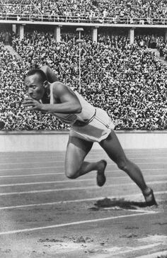 JESSIE OWENS, poss. 1936 Olympics, Hitler walked out, but later met his fate.  DR STEVE AND ASSOC.  Adolph Kiefer told me that Jessie allowed him to carry his(Jessie's) bag,(joke)