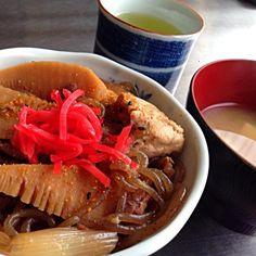 ご飯半分に控えま〜す!  ちょいお腹出たからね〜(^^;; - 14件のもぐもぐ - おうちご飯は牛丼、、、。 by hiroshiokaslE