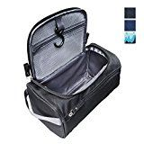 Lucky Rain Hanging Travel Toiletry Bag Organizer Bathroom Shower Wash Shaving Grooming Kits Bag for Travel Accessories and Toiletries Black