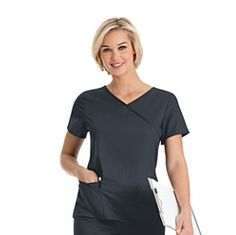 This Sophie Crossover Tunic from Uniform City is cute and functional - perfect for work.  Get this and other pieces with your rebate from RebateBlast.