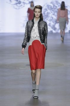 AW1415 SIS collection by Spijkers en Spijkers @ Amsterdam Fashion Week spijkersenspijker... spijkersenspijker... #amsterdamfashionweek #sis #sisbyspijkersenspijkers #spijkersenspijkers #fashion #mode #style #skirt #red #cloud #print #blouse #organza #jacket #cute #model #style #streetstyle #inspiratie #inspiration