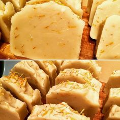 Onto the curing racks it goes... Calendula infused olive oil mixed with shea butter castor oil sustainable palm and coconut oil soap.  Lightly scented with lavender essential oil and peppered with calendula petals.  Lightened a bit with white kaolin clay.  You can have it in 4-6 weeks.