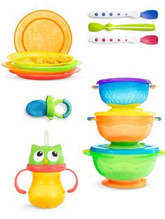 For colorful adventures in the world of sippy cups, see what Munchkin offers for baby and toddler feeding.