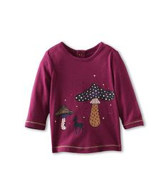 Little Marc Jacobs L/S Tee With Mushroom Print (Infant)