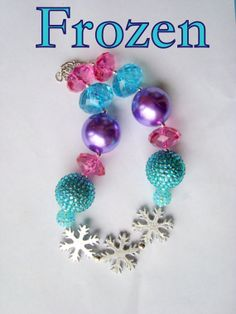Frozen Inspired Necklace baby/toddler/child by Greenapplegirlys