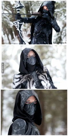 Cosplay Anime Costume Amazing Nightingale cosplay - More memes, funny videos and pics on Skyrim Cosplay, Character Outfits, Character Art, Arte Assassins Creed, Goth Outfit, Moda Steampunk, Super Heroine, Chica Fantasy, Halloween Disfraces