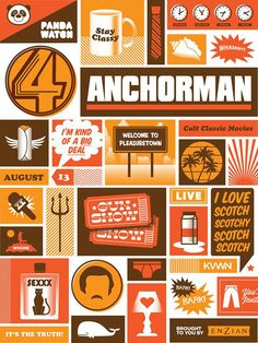 Cult Classic Movies / Anchorman / Lure Design Poster Store