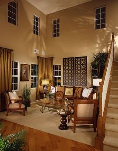 New high ceiling lighting living room paint colors ideas High Ceiling Living Room, Living Room Decor On A Budget, Casual Living Rooms, Living Room Carpet, Paint Colors For Living Room, Living Room Colors, Diy 2019, Decor Scandinavian, Family Room Design