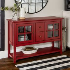 Red Console Table, Antique Console Table, Antique Buffet, Classic Furniture, Bar Furniture, Living Room Furniture, Furniture Movers, Kitchen Furniture, Red Painted Furniture