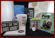"""People I Want to Punch in the Throat: 12 Days of Christmas Giveaways! DAY TWO! """"Did I Say That Out Loud Featuring People I Want to Punch in the Throat. Christmas Giveaways, 12 Days Of Christmas, Adult Coloring, Coloring Books, Out Loud, Drinking Tea, Fun Games, Wooden Signs, Elf On The Shelf"""
