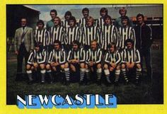 1974-75 A&BC Gum #122 Newcastle United Team Front