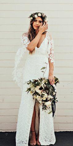 Bohemian Wedding Dress Ideas You Are Looking For ❤ See more: http://www.weddingforward.com/bohemian-wedding-dress/ #weddingforward #bride #bridal #wedding