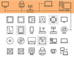 """Check out new work on my @Behance portfolio: """"Computer hardware icons"""" http://be.net/gallery/33480433/Computer-hardware-icons #book #camera #collection #computer #design #electronics #game #icon #illustration #industry #knowledge #letter #music #processor #radio #science #server #set #silhouette #technology #tv #usb #vector #world"""