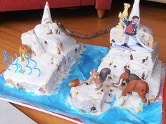 kids parties#Ice age 3D cake#festas crianças#bolo 3D idade gelo