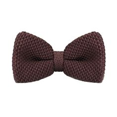 New Brand F-318 Vintage Bow Ties Mens Neck Tie for Men Business Wedding Suits Pajaritas Hombre Dark Brown Solid Knitted Bowtie