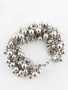 Silver Bead Bracelet...wld make a really cool necklace too