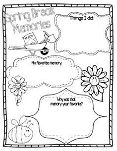 Spring Break Poster and Paragraph writing activity!