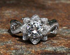 TWIST OF FATE Diamond Engagement Ring Setting by BeautifulPetra