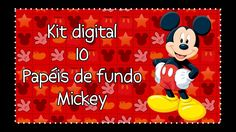 Kit digital papéis de fundo Mickey