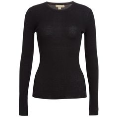 Women's Michael Kors Cashmere Crewneck Sweater ($595) ❤ liked on Polyvore featuring tops, sweaters, michael kors sweaters, wool cashmere sweater, cashmere crewneck sweater, cashmere top and crew neck tops
