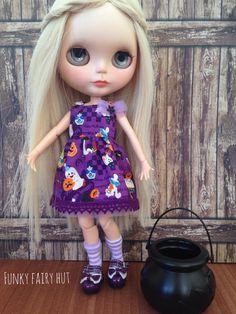 """Blythe oblečení """"Halloween Fun"""" .Blythe outfit.Blythe dress.Blythe příslušenství.  1/6 stupnice outfit.1 / 6 měřítku šaty."""