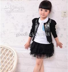 Wholesale Little Girls Kids Clothes Girl Spring Autumn Jacket ...