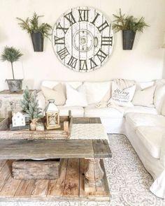 77 modern farmhouse living room decor ideas