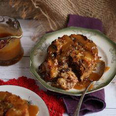 Orange-scented Bread Pudding with Hard Sauce for Two | www.girlichef.com