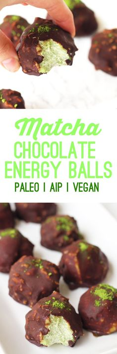 "I'm not sure quite when it happened or why, but at some point, we all got obsessed with matcha. Though matcha is anything but ""new"", it's . Vegan Snacks, Healthy Treats, Paleo Vegan, Tea Recipes, Whole Food Recipes, Recipies, Smoothie, Protein, Going Vegetarian"